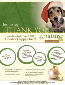 By Nature Holiday Happy Hour invitation