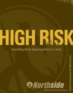 "Northside ""High Risk"" print ad"