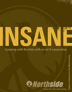 "Northside ""Insane"" print ad"