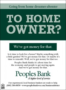 Peoples Bank Home Owner ad