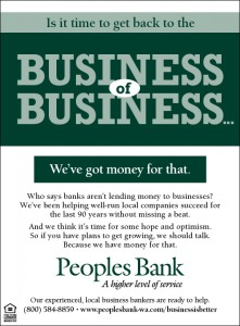 Peoples Bank Business ad
