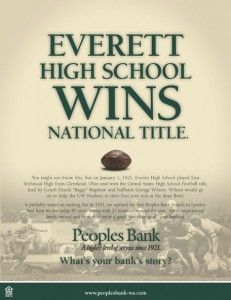 Peoples Bank Everett High School ad