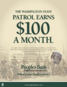 Peoples Bank $100 ad